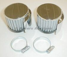 """Shielded Circle Track Valve Cover Breathers for 1 3/8"""" Tube One Pair"""