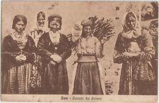 ITALIA 1929 OCCUPAZIONE ZARA SU CARTOLINA ZARA-COSTUMI E DINTORNI
