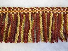2.7mt Red Gold Bullion fringe 12cm fabric upholstery trimming sewing fabric trim
