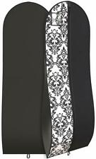 "Damask Gown Garment Bag for Women Dresses Travel Folding Loop ID Window 72""x 24"""