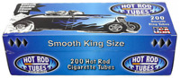 Hot Rod Smooth King Size Blue Light - 10 Boxes - 200 Tubes Box Tobacco Cigarette