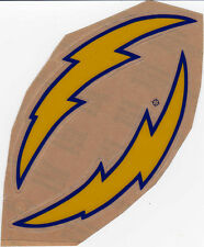 SAN DIEGO CHARGERS 70'S THROWBACK MINI HELMET DECAL SET