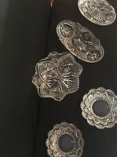 5~Beautiful Cut Glass Bowls Antique