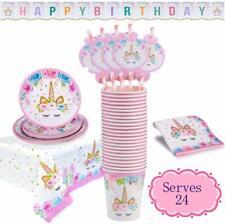 24 set Unicorn Party Supplies Girls DaughterBirthday Theme Party Decoration Us