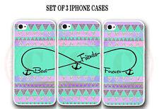 Mint Purple Aztec BFF Best Friends 3 Cases for iPhone X  7 8 6S SE 5S 5 S9 S8 S7