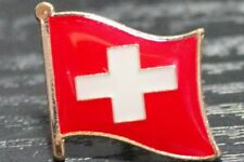 SWITZERLAND Swiss Metal Flag Lapel Pin Badge *NEW*