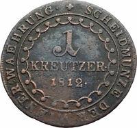 1812 AUSTRIA w Emperor Franz II Hapsburg Antique Kreuzer Austrian Coin i74806
