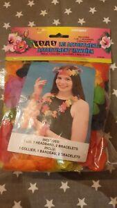 Hawaiin Fancy Dress Pack- Lei, Headband and Bracelets