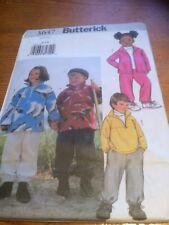 Butterick Unisex Jacket +Pants paper sewing pattern. New & Uncut 3647 size 6-7-8