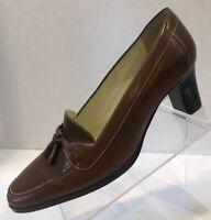 Lauren Ralph Lauren Women's Brown Leather Pumps Heels Shoe Size 7.5C