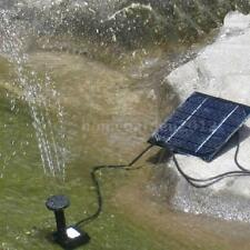 Solar Powered Water Pump Panel Pool Pond Fountain Garden Plant Watering Y0C0