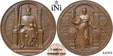 iNi  GERMANY PRUSSIA, Wilhelm I, Medal, 1877, Strasbourg visit, bronze