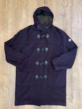Original Henri Lloyd Sailing WOOL Toggle Hooded Duffle Coat Mens Large L Brown