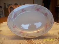 Crescent Fine China Jie Pai Vintage Elegant Orchid Floral Pattern Sering Plate