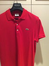 Lacoste Mens Polo Shirt - Size 5 Medium - Slim Fit Red