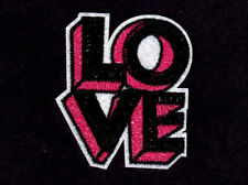 """""""LOVE"""" Iron On Patch Sayings Words Romance"""