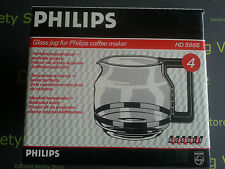 NEW Replacement Glass Jug for Philips Coffee Maker HD5966 (4) Official Accessory