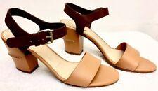 NIB Chloe Women Groove Calf Leather Tan/Brown Sz 38 US 8 Made in Italy Beautiful
