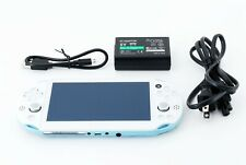 Sony PS Vita Light Blue Slim PCH-2000 w/ Charger From Japan [Excellent+]