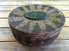 Woven Lidded Basket Png Solomon Isles Pacific Carved Wood Plaque