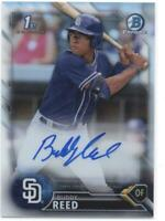 2016 Bowman Draft Chrome Draft Pick Autographs Refractors Buddy Reed /499