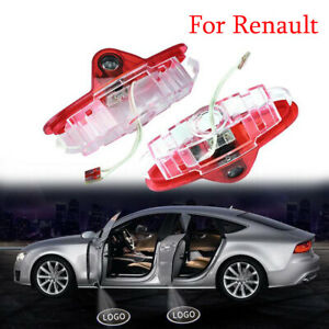 2X LED Door Welcome Light Logo puddle Laser Projector Shadow Lamp For Renault
