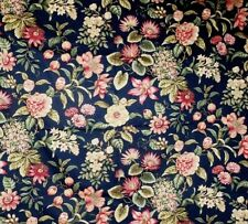 2 1/2 YDS 5th AVENUE / COVINGTON FLORAL FABRIC ~ BELVIDERE ~ UPHOLSTERY CURTAINS
