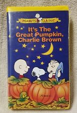 IT'S THE GREAT PUMPKIN, CHARLIE BROWN Vhs Video Tape PEANUTS CLASSIC Halloween