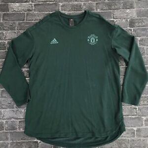 Mens Manchester United Jumper Size XXL Green Adidas Sweatshirt 2XL