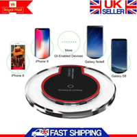 Qi Wireless Charging Pad Charger For Samsung S10 S9 S8 iPhone XR 11 Pro XS Max