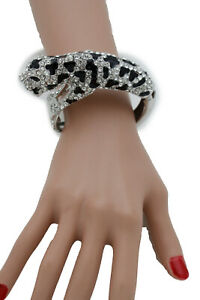 Women Silver Metal Bling Cuff Bracelet Fashion Jewelry Tiger Fancy Dressy Look
