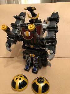 power rangers Ninja Storm Thunder Megazord with number 4 ball  RARE