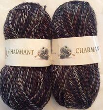 Charmant Yarn Lot Of 2 Skeins Sock Wool Polyamide 1.76 Oz 50g 219 Yard 200 Meter