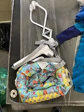 Evenflo Johnny Jump Up Infant Toddler Exercise Jumper Frog Blue Green Baby