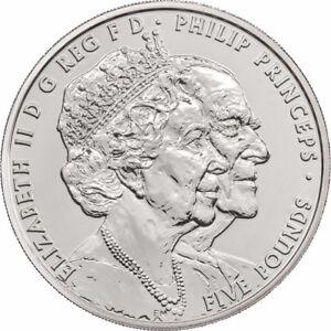 Queen's Platinum Wedding Anniversary UK Royal Mint BU £5 Coin Pack 2017 New