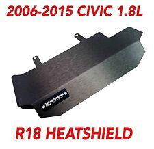 SCW Honda Civic 2006-2015 HEADER Exhaust Heat Shield BLACK R18 LX EX SE DX VTEC