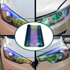 30*120cm Chameleon Light Blue Headlight Tint Taillight Fog Light Vinyl WrapDecal