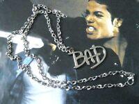 Michael Jackson Hals Kette mit BAD Logo aus Legierung 4cm x 2.8cm für MJ Fans141