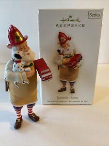 Hallmark Keepsake Toymaker Santa Fireman Figurine🌟🌟🌟