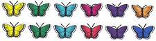 Butterflies Embroidered Iron On Appliques Pack of 12