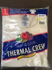 Vintage (2003) Fruit of the Loom Thermal Underwear Crew Long Sleeves Large