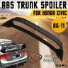 Mugen Style Rear Trunk Spoiler Wing Lip Unpainted For 06-11 Honda Civic Sedan US