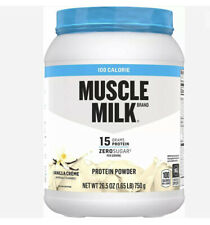 Muscle Milk 100 Calorie Protein Powder, Vanilla, 15g Protein, 1.65 Pounds