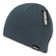 Charcoal Solid Warm Winter Ski Snowboard Knit Skull Beanie Beanies Cap Hat Hats
