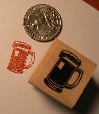 Beer mug miniature rubber stamps WM P24