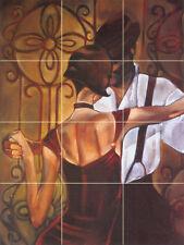 Art Tango Mural Ceramic Backsplash Bath Tile #79