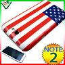 Pellicola+Cover BANDIERA AMERICANA p Samsung Galaxy Note 2 N7100 II custodia USA