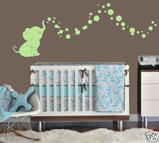 Elephant Bubbles Graphic Wall Decal Vinyl Kids/Nursery Room Choose Color