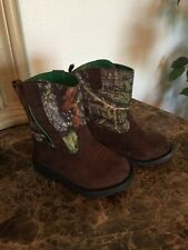Healthtex Boots Real Tree Camo Western Cowboy Boys Or Girls Velcro Sides Easy