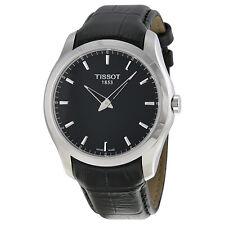 Tissot Couturier Black Dial Black Leather Mens Watch T0354461605100